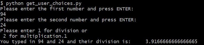 get user input Python